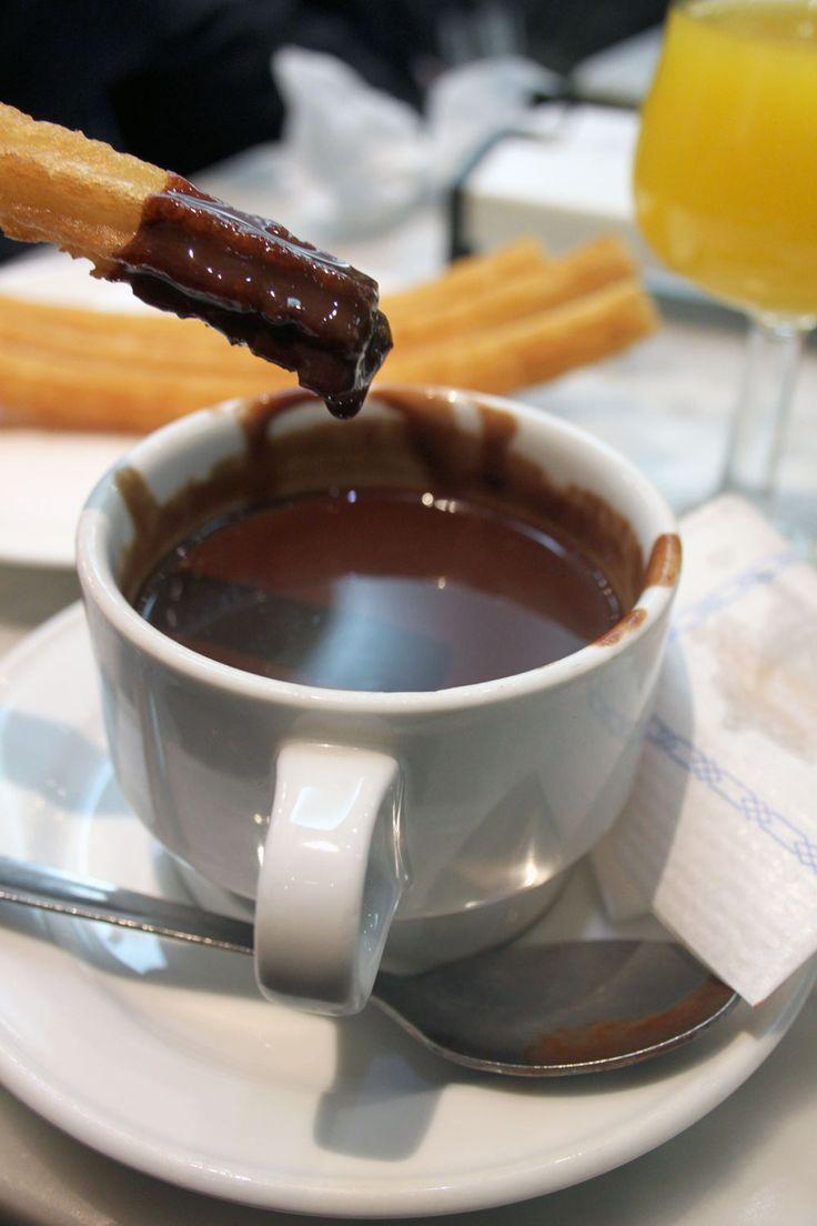 Churros & Chocolate at San Gines, Madrid