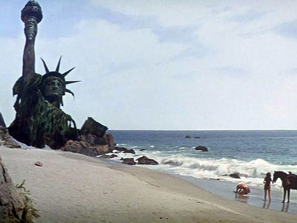 You maniacs! You blew it up! Damn you! Damn you all to hell! - Charlton Heston in Planet of the Apes.   skg