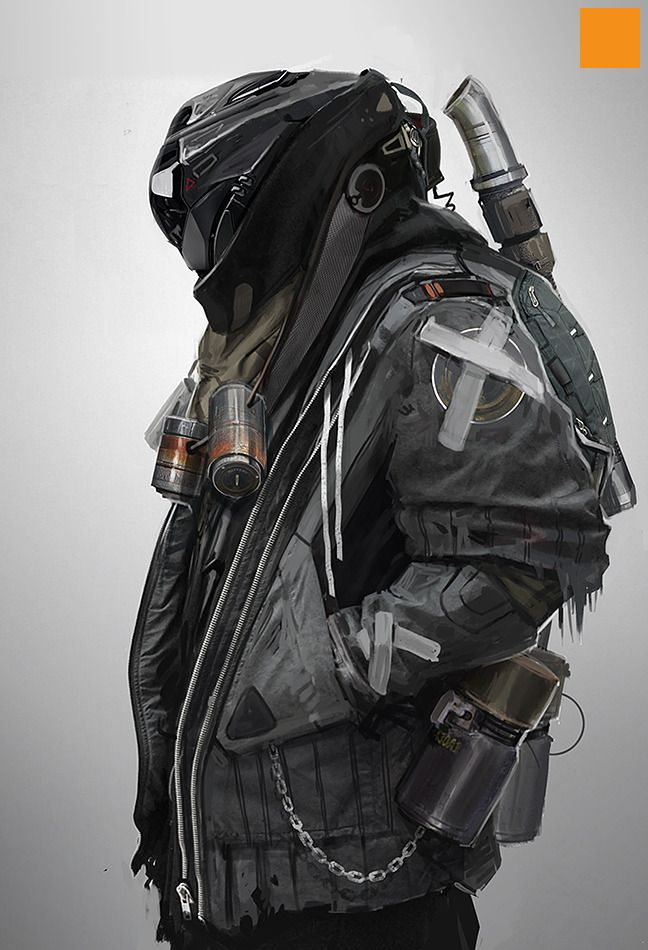 sci-fi style character designs created by CGHUB artist fightPUNCH