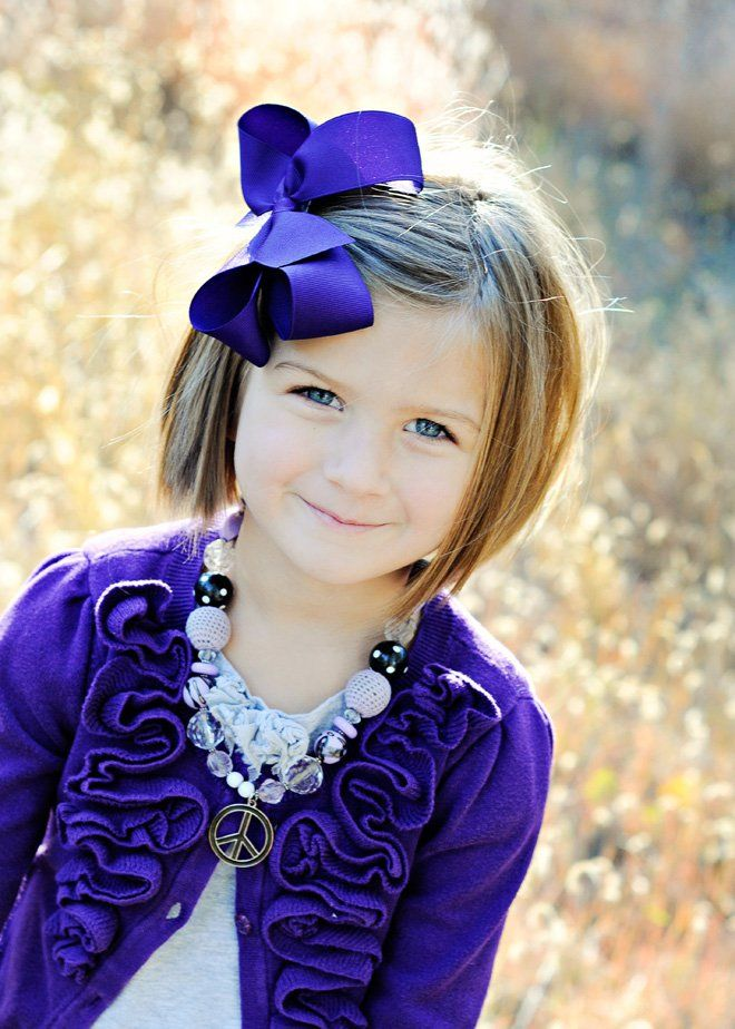 Very cute little girl hair cut idea, also loving the necklace