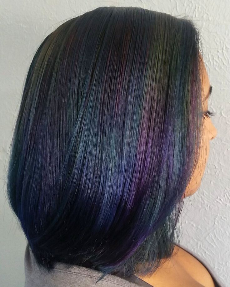 Oil slick hair + bob by Tesia Wolcott  http://www.costerobeauty.com/blog-costero/2015/10/19/all-about-oil-slick-hair