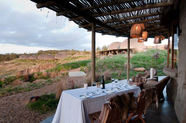 Outdoor Dining at Kwena Lodge