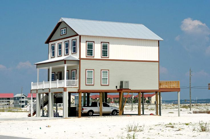 Modular home plans on pilings for Narrow beach house plans on pilings