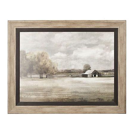 10621aa3e17c Product Details Quiet Foggy Barn Framed Art Print