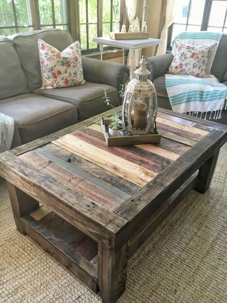 Most Creative Diy Coffee Table Furniture Project Ideas 37 Diycoffeetable Coffeetablefurniture Diy Table Design Wood Pallet Furniture Wooden Pallet Furniture