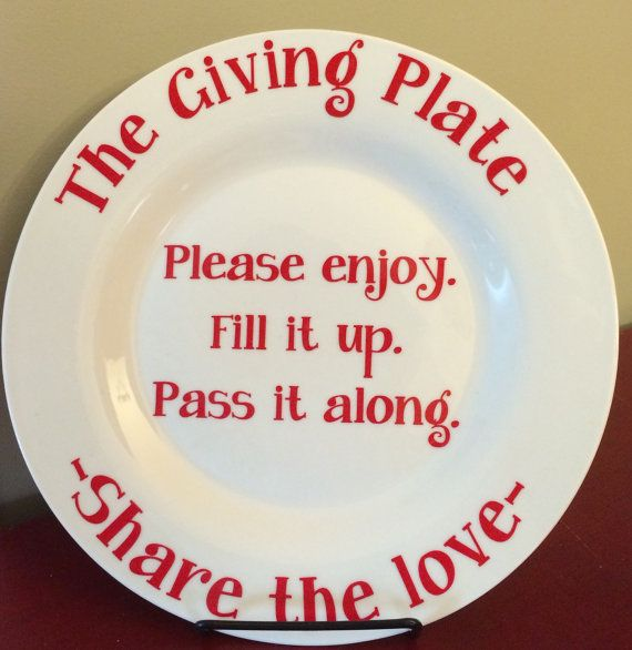 The Giving Plate-Great Gift for Cookie Swap by HappyRedCottage