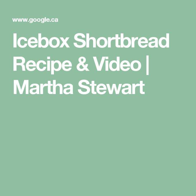 Icebox Shortbread Recipe & Video | Martha Stewart