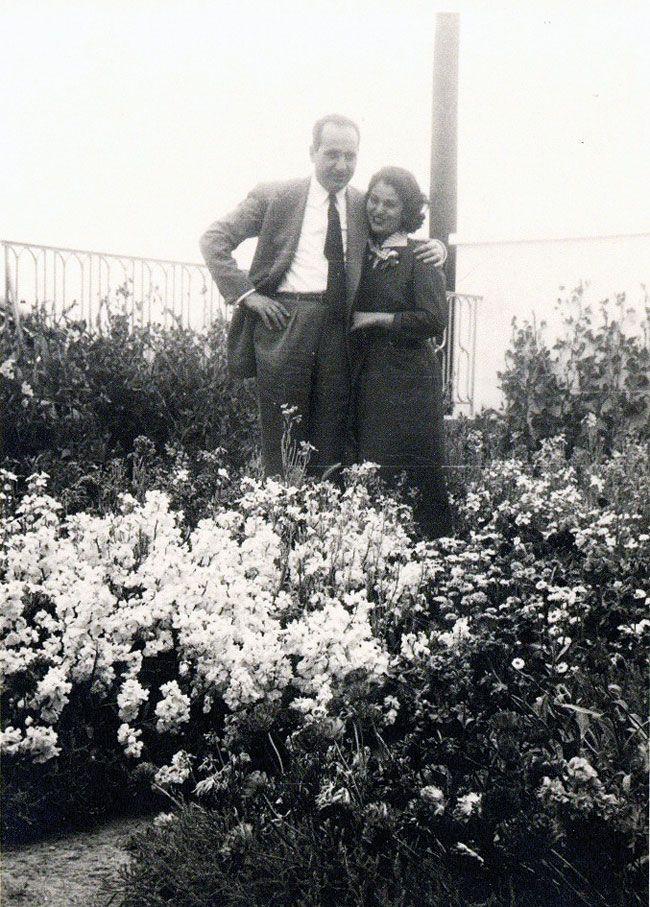 Δεκαετία του '50, με τη σύζυγό του Μαρίκα, αρραβωνιασμένοι τότε