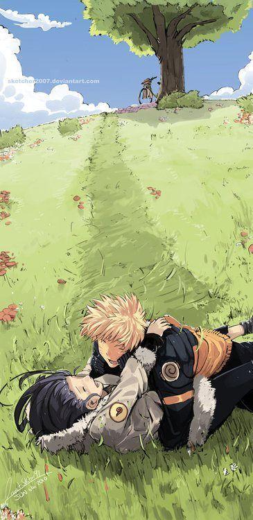 Наруто & Хината. аниме картинки, аниме арты