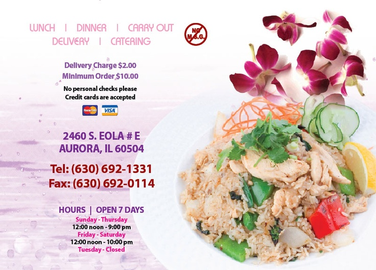 Great Thai Food! Priced just right!