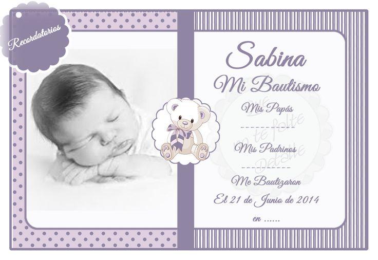 # Recuerdo de Mi Bautizo # diseño recordatorios bautizo