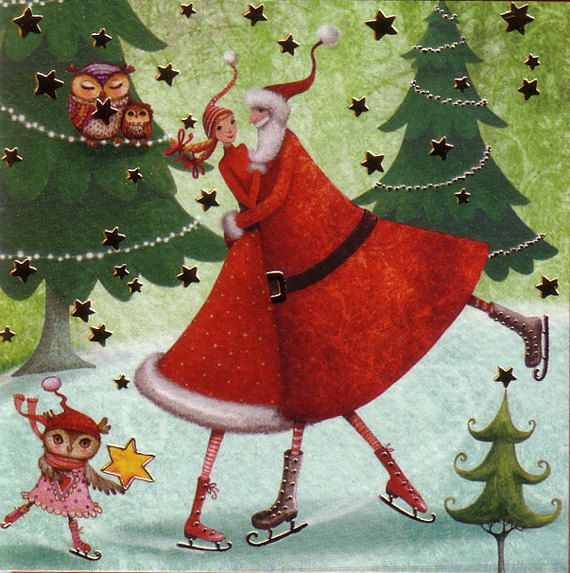 Christmas accompanying card for presents by Mila Marquis * 5 piece * Minimum order value 10 Euro *