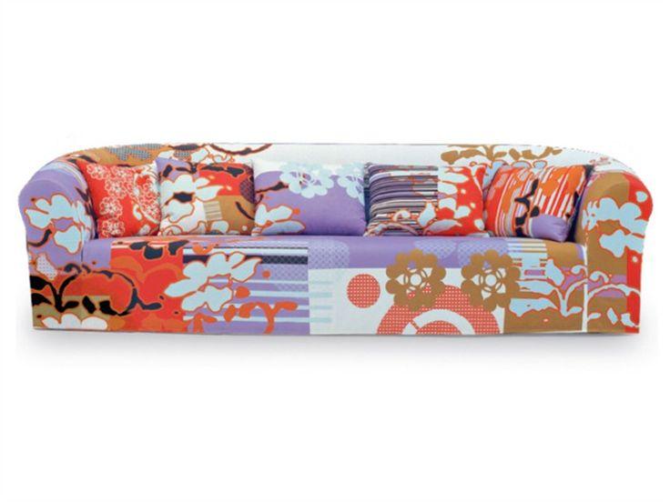 Upholstered Sofa PRINT By MOROSO | Design Marcel Wanders