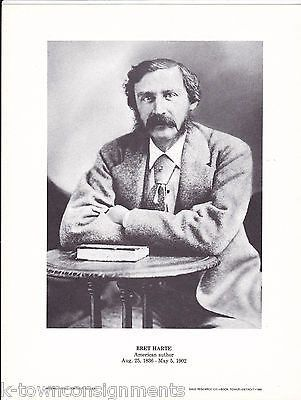 Bret Harte American Writer Author Vintage Portrait Gallery Poster Photo Print