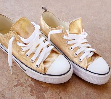 Golden Revamp - use metallic paint to transform your shoes