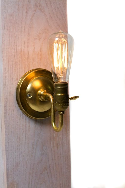 Brass Loop Arm Bare Bulb Vintage Style Paddle Key Socket Wall Sconce: Arm Bare, Style Paddle, Paddle Key, Loop Arm, Socket Wall