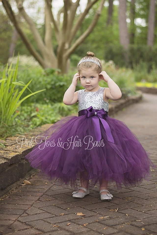 http://pinktoesnhairbows.com/item_539/The-Addison-Plum-and-Silver-Sequin-Flower-Girl-Dress.htm - mother of the bride dresses, plus size evening dresses, the dress store *ad