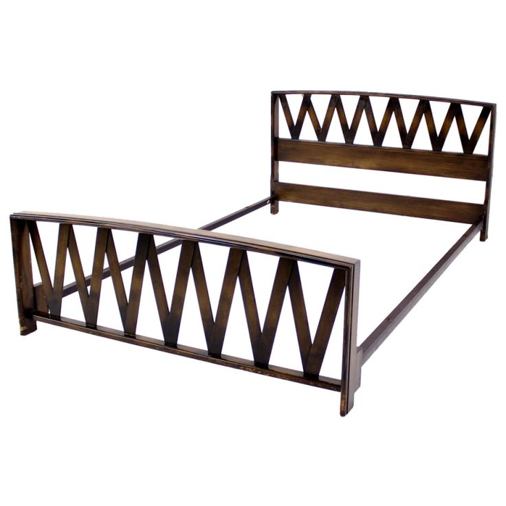 Mid Century Modern Full Bed Headboard By Paul Frankl for Johnson | From a unique collection of antique and modern beds at http://www.1stdibs.com/furniture/more-furniture-collectibles/beds/