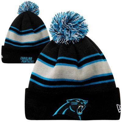 New Era Carolina Panthers Fashion Sport Knit Hat - Black/Carolina Blue