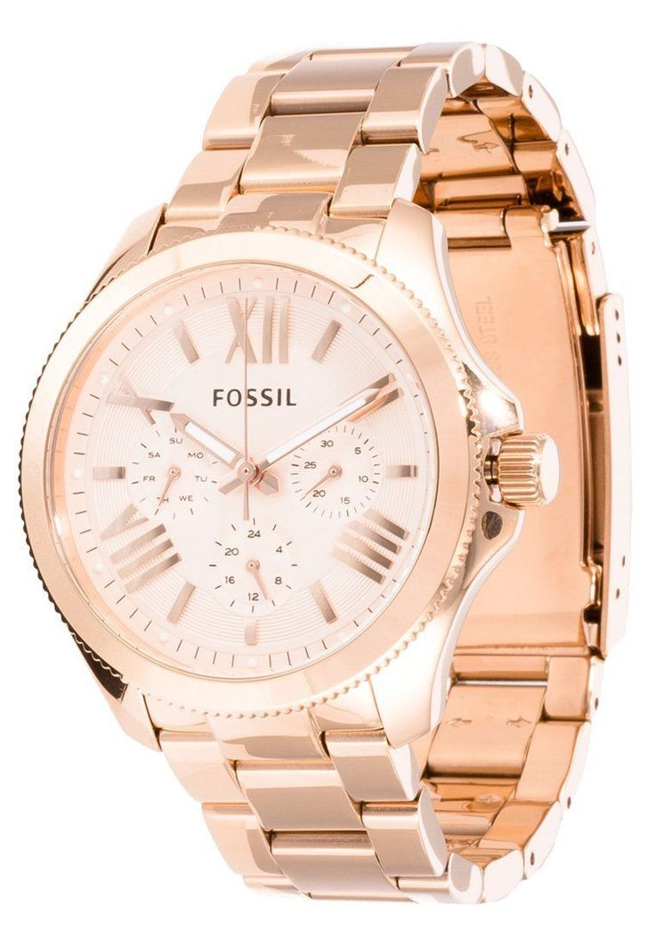 New Fossil AM4511 Women's Cecile Rose Gold Tone Stainless Steel Bracelet Watch | eBay