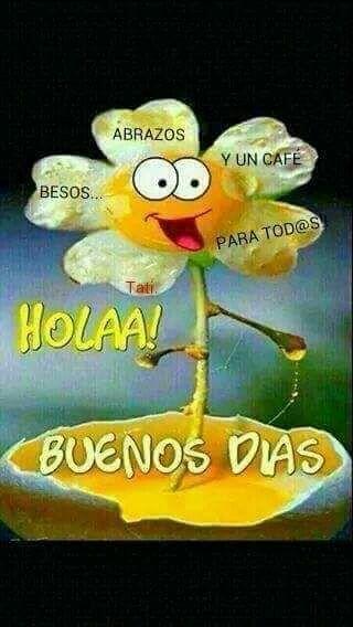 Bon dia. Buenos dias