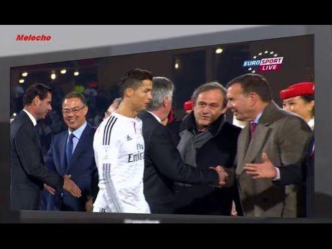 Cristiano Ronaldo vs Michel Platini Mondial Des Clubs 2014 Cristiano Ronaldo, lui, serre dans ses bras Florentino Perez, le président du Real Madrid