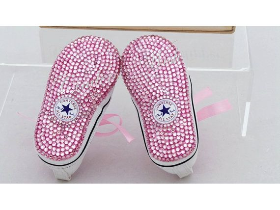 Hey, I found this really awesome Etsy listing at https://www.etsy.com/listing/169413191/baby-converse-twinkle-toes-bling-toe converse