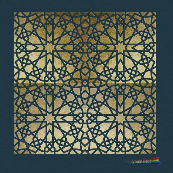 moroccan tile stencil for walls furniture st28 p schablonen schablone f r wand und 125er. Black Bedroom Furniture Sets. Home Design Ideas