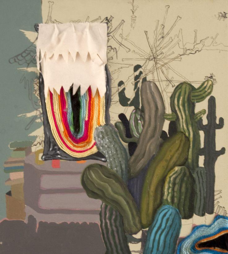 Giuseppe Abate, gli sconci appellativi di Anna, 2014, mixed media on canvas, cm 50x45