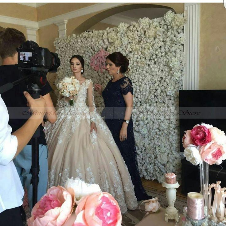Luxury-3d-flora-fiori-puffy-dell-abito-di-sfera-della-principessa-abito-da-sposa-con-Cappella