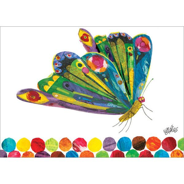 Oopsy Daisy Eric Carle's Fluttering Butterfly Canvas Art & Reviews | Wayfair