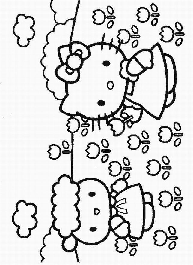 Free Hello Kitty Printable Hello Kitty Coloring Hello Kitty Colouring Pages Hello Kitty Printables