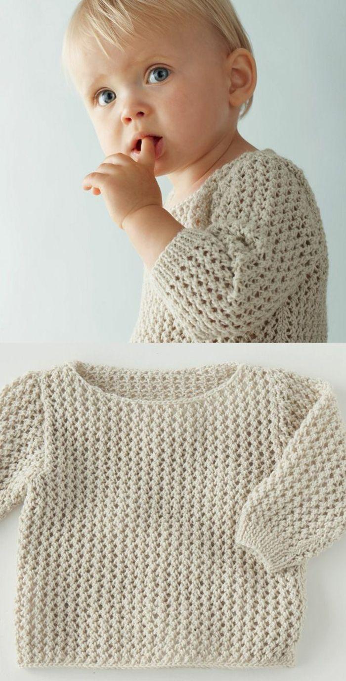 Baby Pullover stricken – tolle Ideen und Muster – Archzine.net