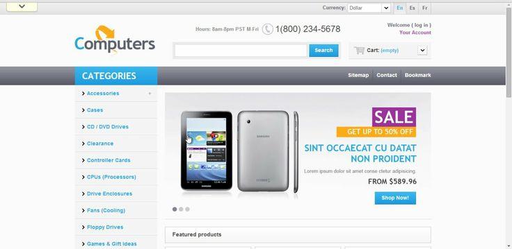 Computers Shop  PrestaShop Theme 1.5