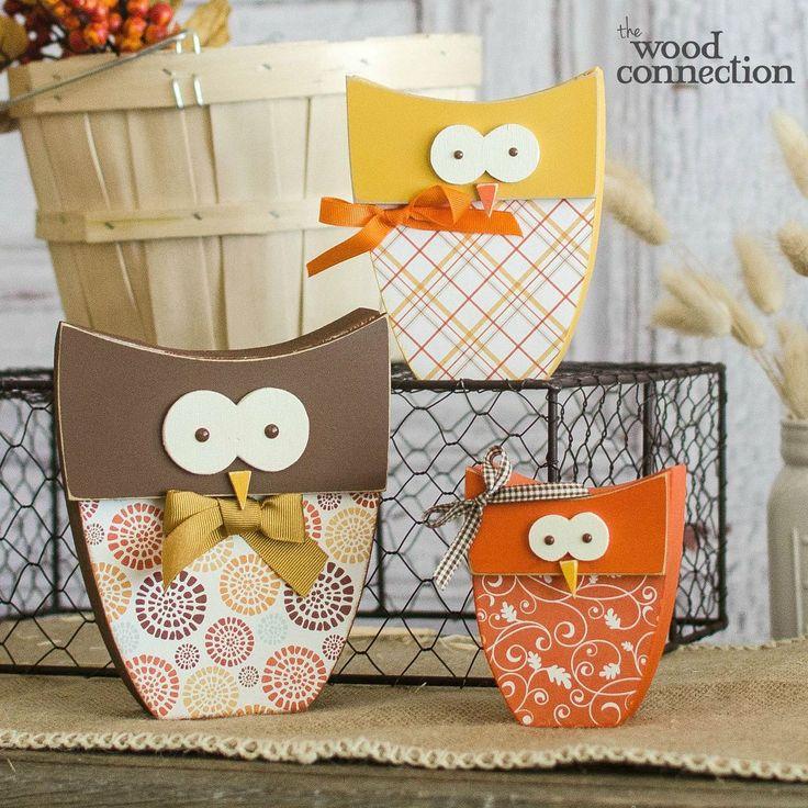 Fall Owl Trio