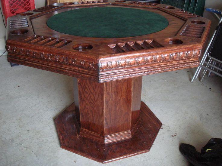 Poker Table Poker table diy, Octagon poker table, Poker