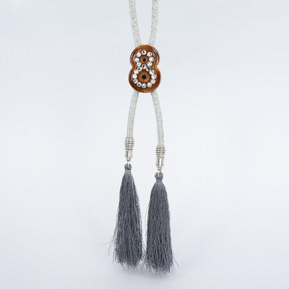 Handmade Bolo tie Avant Garde necklace Wooden by CosmiziAvocado
