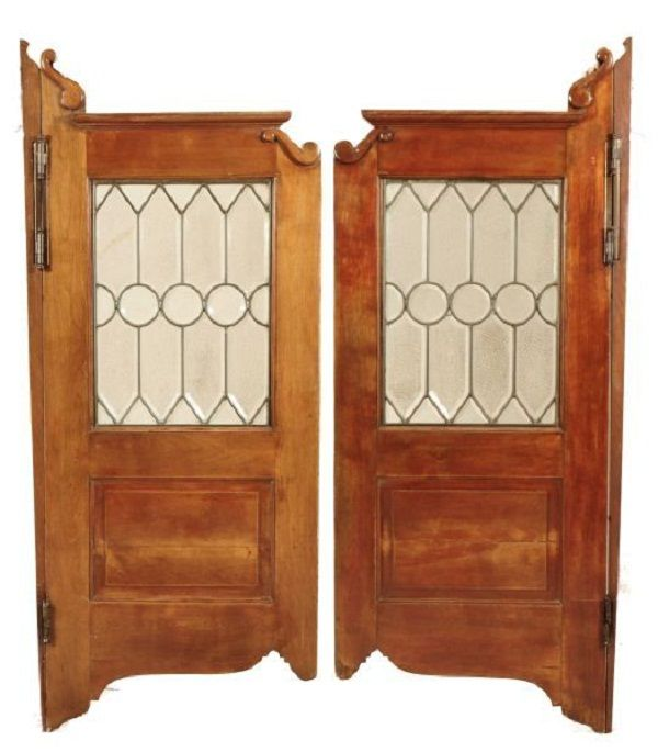 Antique Saloon Doors With Leaded Glass - Burley Auction Group - 54 Best Saloon Doors Images On Pinterest Western Saloon, Saloon
