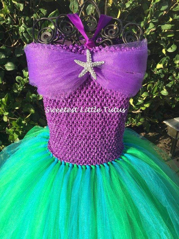 Little Mermaid Tutu Dress/ Mermaid Tutu Dress/ Ariel Tutu