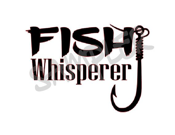 Fish Whisperer decal for yeti boat rv atv by HippieChicsMakings