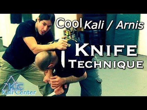 COOL KALI ARNIS KNIFE TECHNIQUE - Eskrima Knife Defense - KNIFE Self Defense - Filipino martial arts