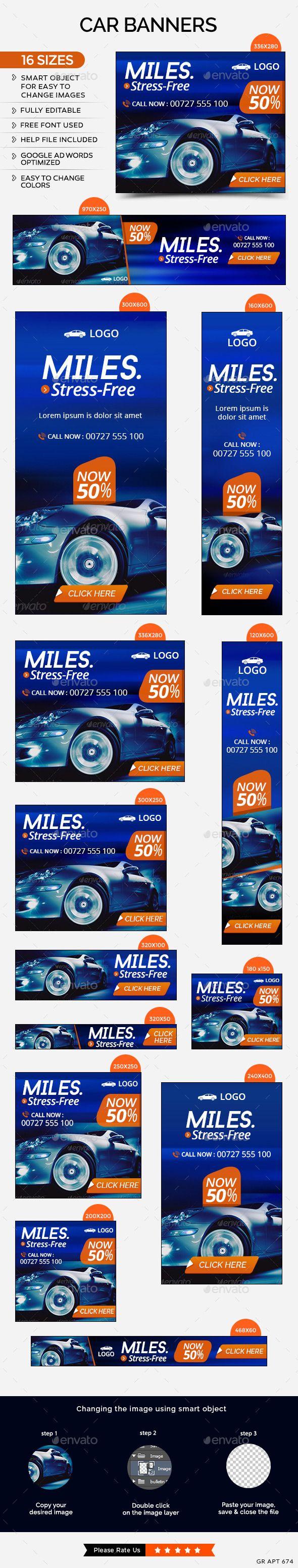 Car Sale Banners Template #design Download: http://graphicriver.net/item/car-sale-banners/11759368?ref=ksioks