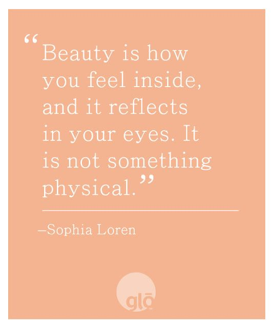 So if you feel like I am beautiful that's a great thing. You see my inner happiness!