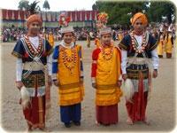 Nongkrem Dance- a dance of the Khasi tribes of Meghalaya, India.