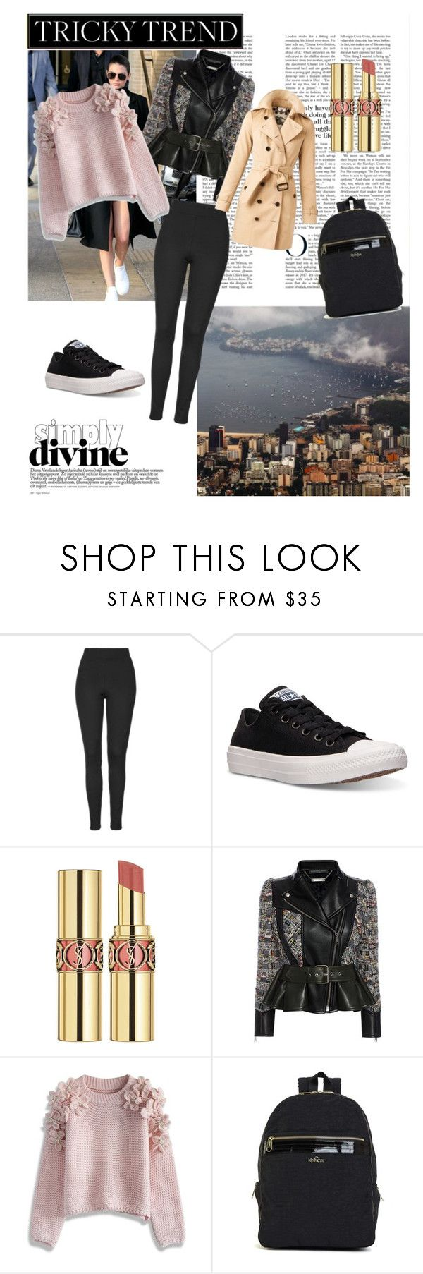 """""""Today's outfit: family reunion"""" by cixara ❤ liked on Polyvore featuring Lonely Planet, Topshop, Converse, Yves Saint Laurent, Alexander McQueen, Chicwish and Burberry"""