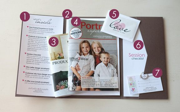 Great idea for a welcome packet for new client