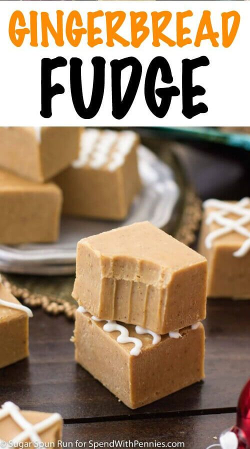 Easy Gingerbread Fudge! A seasonally spiced gingerbread fudge that takes just minutes to make and doubles as a festive, edible Christmas gift.