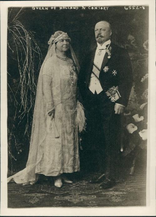 Queen Wilhelmina of Netherlands and her consort Heinrich von Mecklenburg-Schwerin