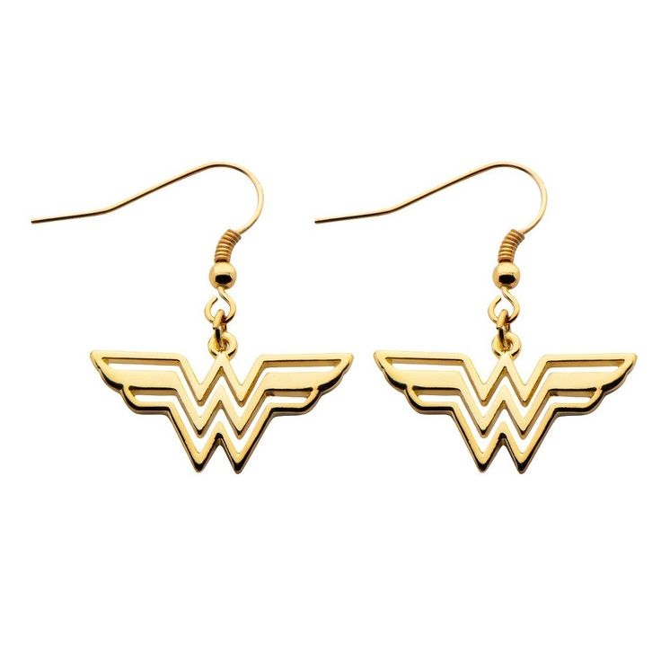 25 unique wonder woman logo ideas on pinterest wonder woman dc comics wonder woman logo cutout earrings gold stainless steel pronofoot35fo Gallery