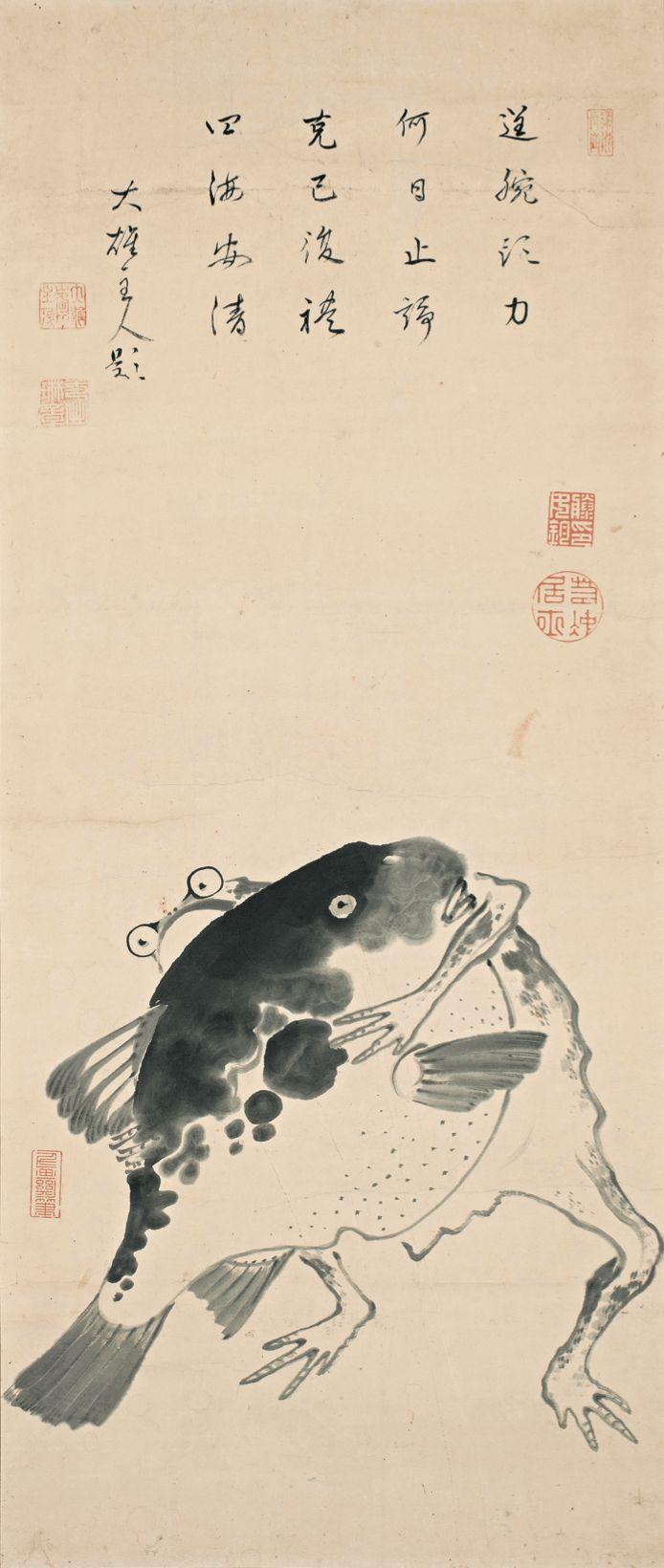 DMA-河豚と蛙の相撲図-min